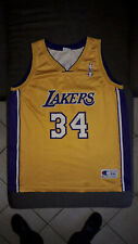 Shaquille O'Neal 34 Los Angeles Lakers NBA basketball jersey Champion XXL 52