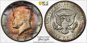 1969-D KENNEDY HALF DOLLAR SILVER PCGS GENUINE LIGHT TONED COLORING BU UNC (MR)