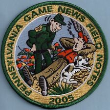 """Pa Pennsylvania Game Fish Commission NEW 4"""" 2005 Pa Game News Field Notes Patch"""