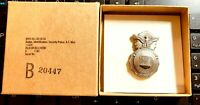 Authentic Obsolete USAF Air Force Mini Security Police Badge in Box dated 1983