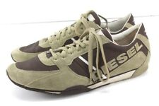 mens brown DIESEL Parabarny sneakers tennis shoes lace up suede leather 13 M