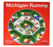 Best Original Michigan Rummy Board Game Set Plastic Playing Board 96 Chips Rules