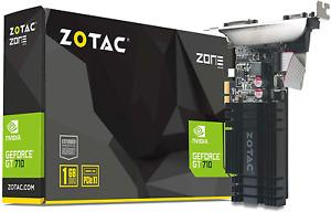 ZOTAC GeForce GT 710 1GB DDR3 PCIE x 1 , DVI, HDMI, VGA, Low Profile Graphic