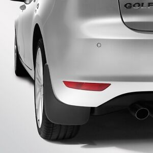 NEW GENUINE VW GOLF MK6 REAR ACCESSORY MUDFLAPS SET