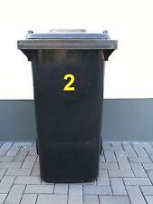 Aufkleber Mülltonne Abfalltonne Mülleimer reflektierend Zahlen Hausnummer 2Stück