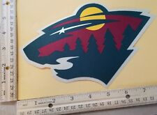 "HUGE MINNESOTA WILD IRON-ON PATCH - 6"" x 7.5"""