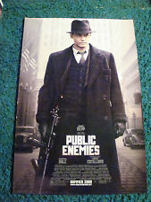 PUBLIC ENEMIES - MOVIE POSTER WITH JOHNNY DEPP