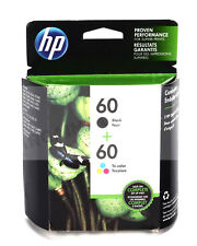 2Pack GENUINE NEW HP 60 (CC640WN/CC643WN) Black&Tri- Color Ink Cartridge