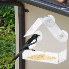 Mangeoire à oiseaux fenêtre acrylique Grand temps ventouses Birds House