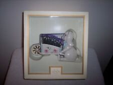 Vintage Lenox Petals and Pearls Flopped Eared Bunny w/Flower Cart Figurine~New
