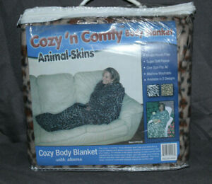 Cozy 'N Comfy Body Blanket (Cheetah) New in Package