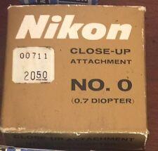 Nikon Close Up Attachment No. 0 (0.7 Diopter)