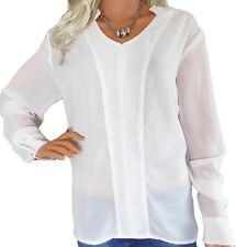 CLEARANCE Ladies UK Plus Size 10 - 24 Georgette Blouse Tops Red Ivory Black