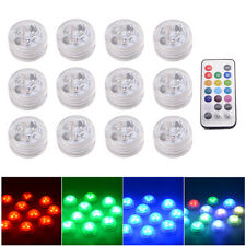 Remote Control SMD3528 RGB Submersible LED Lights CR2032 Battery Operated LD843