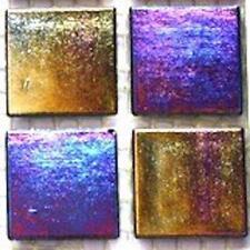75 Vitreous Iridescent Mosaic Tiles 20mm - Jet Black