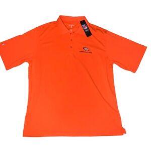 ANTIGUA NFL Super Bowl 48 Broncos Men's Large Orange S/S Polo Golf Shirt NWT