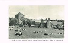 Garway By The Monnow Church Vintage 1946 Picture Print WBC#48