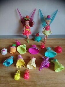 Lot Disney fairies fées Clochette et Roselia robes chapeaux sacs Disney