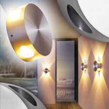 LED Lámpara de pared metal color aluminio IP54 uso interior / exterior 143239