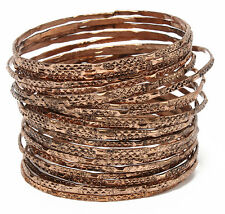 Amrita Singh Krystal Copper Tone 24 Bangle Bracelet Set KB 267 NWT