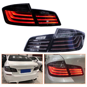 For BMW 5 Series F10 F18 2011-2016 Dark LED Tail Lights Replace OEM Rear Lamps
