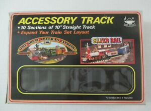 """VINTAGE THE GREAT AMERICAN EXPRESS RAILROAD ACCESSORY TRACK 10 -10"""" STRAIGHT PCS"""