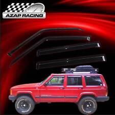 Fits 84-01 Cherokee Slim Acrylic Window Visors 4Pc