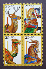 Sc # 2390-2393 (2393a) ~ 25 cent Carousel Animals Issues (bi23)