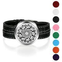 Women Essential Oil Diffuser Bracelet Aromatherapy Locket Bracelets Leather Band