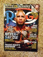 MIGUEL COTTO signed RING magazine (Dec 2015) ~ EXACT photo proof