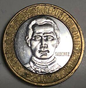 # C2026     DOMINICAN  REPUBLIC    COIN,     FIVE  PESOS  2008