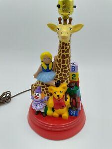 Vintage Kids Lamp Ceramic Mold Children's Room Toys Doll Teddy Bear Blocks Works