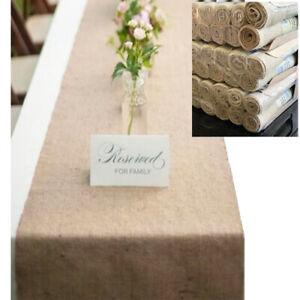 Table Runner Burlap Hessian Jute Natural 30cmW x 200cmL Wedding Table