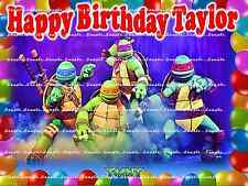 TMNT TEENAGE MUTANT NINJA TURTLES: personalized Edible Cake Topper FREE SHIPPING