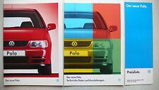 Prospekt Volkswagen VW Polo, 1.1995, 60 Seiten +Daten/Ausstattungen + Preisliste
