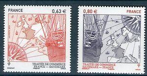 TIMBRE 4817-4818 NEUF XX LUXE - VAISSEAU DE COMMERCE CARTE D'EUROPE ET BOUSSOLE
