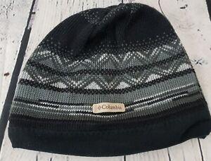 Columbia omni heat Beanir Hat Knit Gray Black O/S