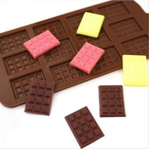 Mini Chocolate Bars Slab Silicone Fondant Mould Cake Decorating Snap Mold Bar