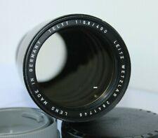 Leica Leitz Telyt R 400mm F6.8 Lente Teleobjetivo Manual de montura de bayoneta.