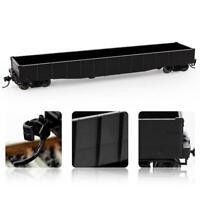 1pc/2pcs/3pcs HO Scale 53ft Low-side Gondola Car 1:87 Black Railway Wagons