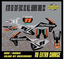 KTM 1999-2019 SX SXF XC EXC MOTOCROSS GRÁFICOS KIT 50 65 85 125 150 250 450 KTM