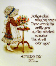 Holly Hobbie Mother's Day 1975 Mothers plant within our hearts...Collector Plate