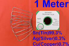 Lead Free Solder 0.81mm 1 Meter 0.3% Silver For Soldering station Iron Speakers