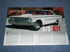 "1963 Ford Galaxie Super Stock Clone Info Article ""S/S Kit"" Lightweight"