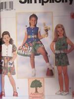 7534 Vintage Simplicity SEWING Pattern Girls APPLETREE Dress Top Shorts UNCUT