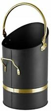 "Hearth And Home 23"" Coal Hod Black and Brass [8227]"