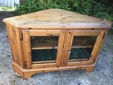 DUCAL Rosedale corner tv console unit cabinet solid wood pine.