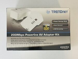 🔥 TRENDnet TPL-303E2K 200 Mbps Powerline AV Adapter Kit *New Free Shipping* 🔥