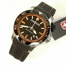 NEW $250 GENTS 43MM WENGER 641102 ORANGE SEAFORCE OUTSIDE MAGAZINE WATCH OF YEAR