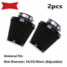 2pcs Adjustable 35mm ATV Air Filter Intake Cleaner Pod Cold Cone Scooter Trucks